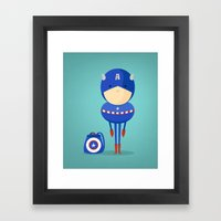 My Dreaming Hero! Framed Art Print