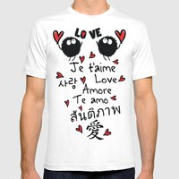 Love In Many Language Mens Fitted Tee White SMALL