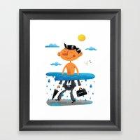 Walk on the Bright Side Framed Art Print