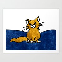 Grumpy Cat - Sketch To D… Art Print