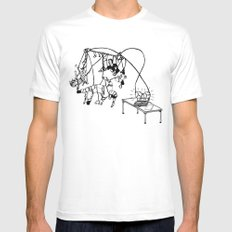 Tape Mens Fitted Tee White SMALL