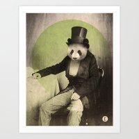 Proper Panda Art Print