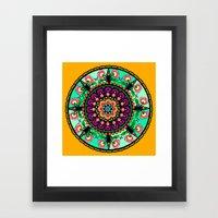 Round Flower Collage Framed Art Print