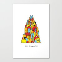 Monster Tower Canvas Print