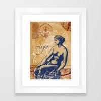 virgo | jungfrau Framed Art Print