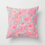 Moroccan Floral Lattice … Throw Pillow