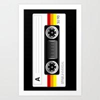 Retro Audio Cassette Tap… Art Print