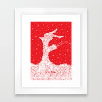 F is for Fargo Framed Art Print