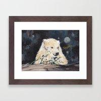 Polar Bear (night hunt) Framed Art Print