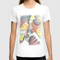Flying towards nowhere Womens Fitted Tee White SMALL