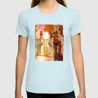 Together in the Sun Womens Fitted Tee Light Blue SMALL