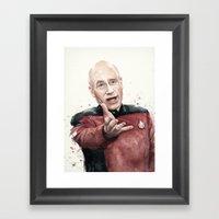Annoyed Picard Meme  Framed Art Print