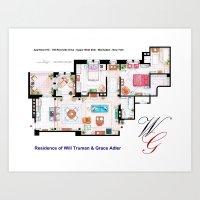 Apartment Of Will Truman… Art Print