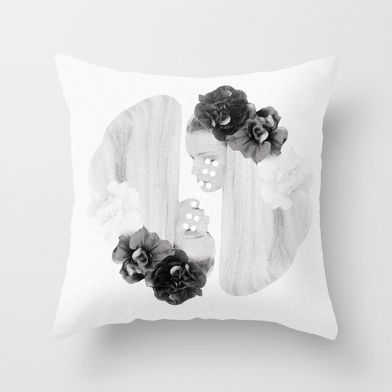 selene and eos (black and white) Throw Pillow