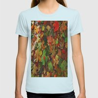 Lotta Leaves Womens Fitted Tee Light Blue SMALL