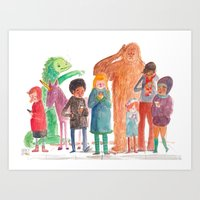 Look Up, People! Art Print