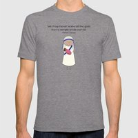Mother Teresa Mens Fitted Tee Tri-Grey SMALL