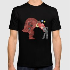 Mass Effect - Wrex and Shepard Mens Fitted Tee Black SMALL