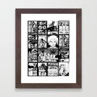 WHITE - A nne Frankenstein Book I - Resurrection Framed Art Print