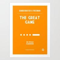 BBC Sherlock The Great Game Minimalist Poster Art Print