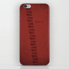 Handwriting: Copy Paste iPhone & iPod Skin