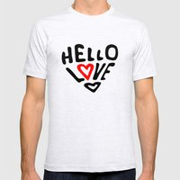 Hello Love Mens Fitted Tee Ash Grey SMALL