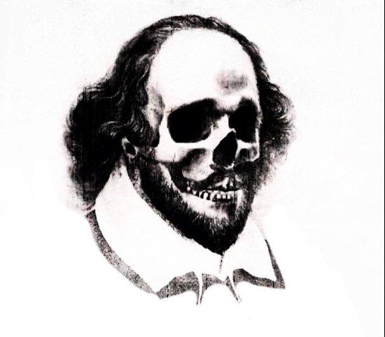 SHAKESPEARE SKULL PORTRAIT Canvas Print