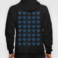 64 Hearts Navy Hoody