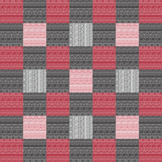 Red, White & Black Pattern Attack Art Print