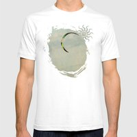 Green And Gold Surf Kite… Mens Fitted Tee White SMALL