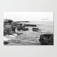 When waves crash in Canvas Print