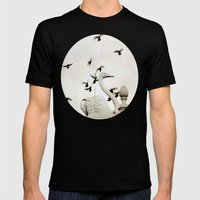 The Spell Of The Swan Mens Fitted Tee Black SMALL