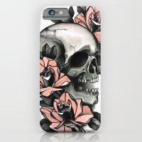 Skull And Roses - Tattoo iPhone 6 Slim Case