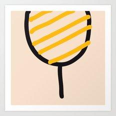Bee, Tennis Racket, TV Antenna... Art Print