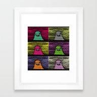Slime (Pixel) Framed Art Print