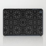 Slate Gray Black Pattern iPad Case