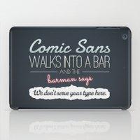 Poor Comic Sans iPad Case