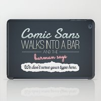 Poor Comic Sans iPad Case