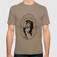 THICK-CHIX Mens Fitted Tee Tri-Coffee SMALL