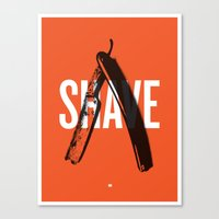 Barbershop Design Ethos / Shave Canvas Print
