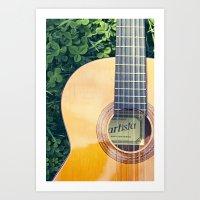 Artista Guitar Art Print