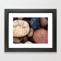 Lake Superior Beach Ston… Framed Art Print