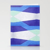 Abstract Purple Blue & G… Stationery Cards