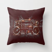 DARK RADIO Throw Pillow