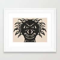 Extremely Sharp Teeth Framed Art Print