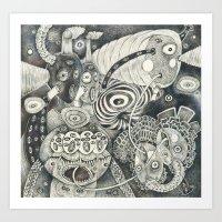 Umbilical Chords Art Print