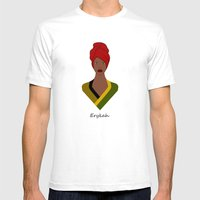 Erykah Mens Fitted Tee White SMALL