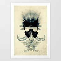A Black Angel From Aksou… Art Print