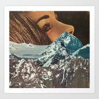 mountains between us Art Print