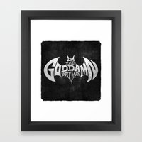The GD BM Framed Art Print